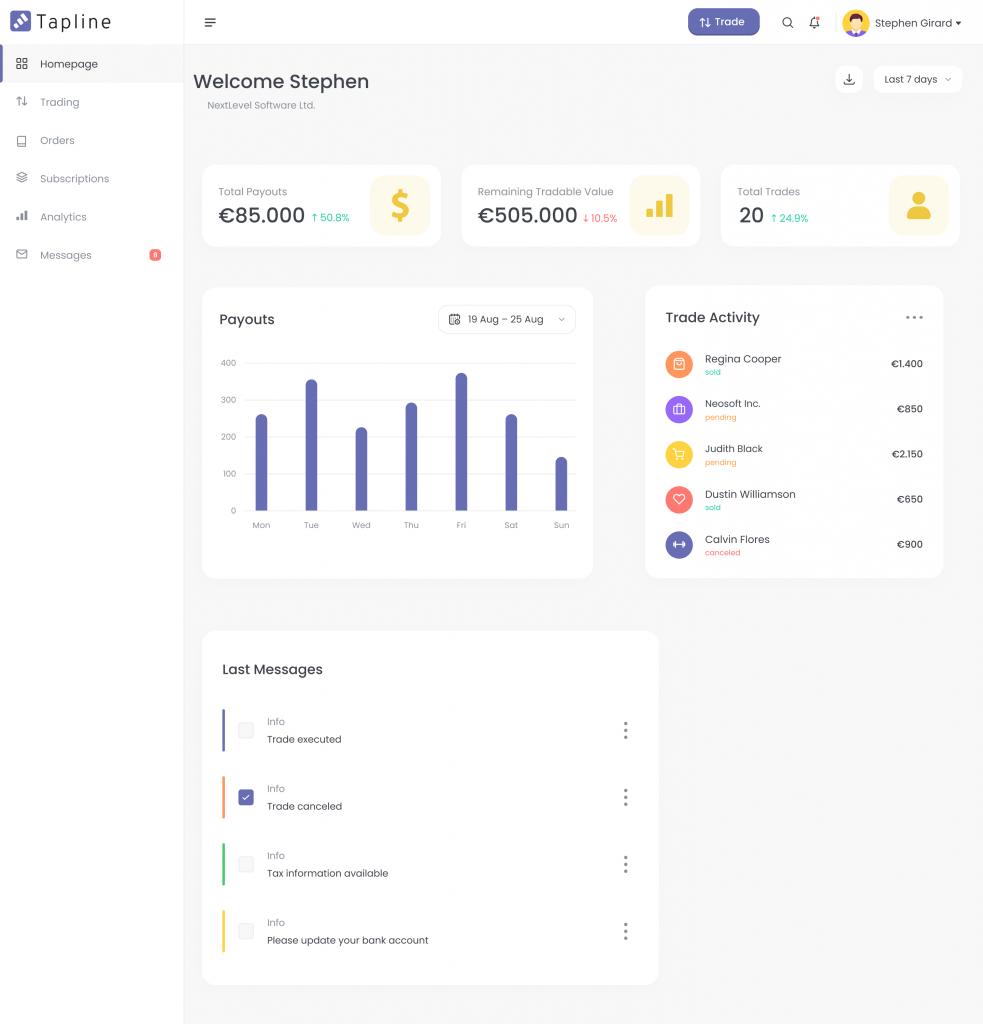 saas client dashboard
